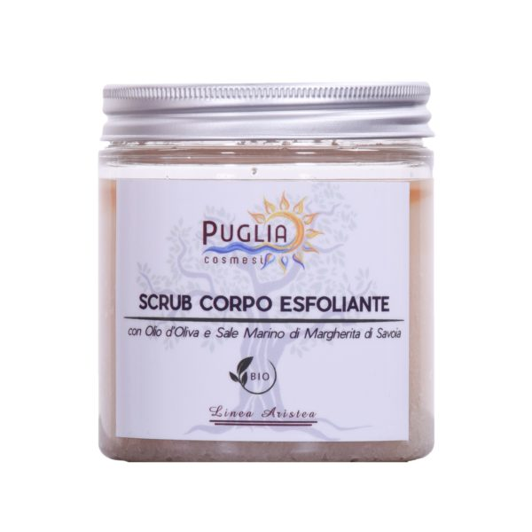Vanilla exfoliating body scrub